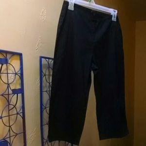Pants - 7 for $21/Black Pinstripe Pedal Pushers